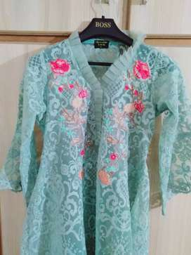 Ladies embroidery shirt party wear