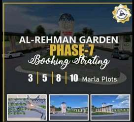 5 Marla Residential plot Available on Installments | Al Rehman Garden