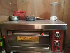 Commercial kitchen item used pizza oven fridge ss table fryer griller