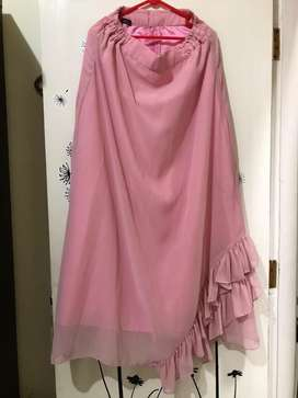 Rok panjang wanita warna pink