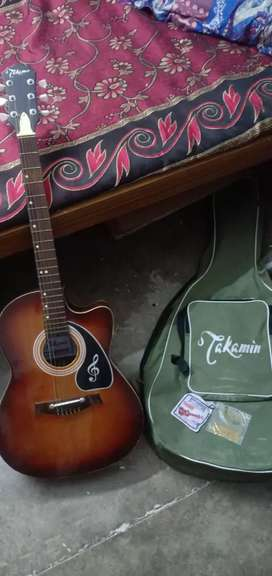 3 Montana old guitar with 2 extra strings and cover