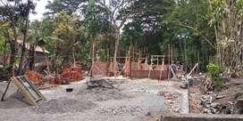 Dijual tanah beserta rumah proses sedang dibangun