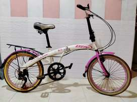 sepeda lipat exotik 6 speed