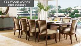 10 Chairs Dining table set for sale in shesham wood