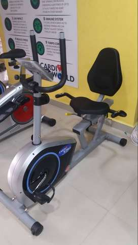 Recumbent Bike with 100 kg user weight for Seniors