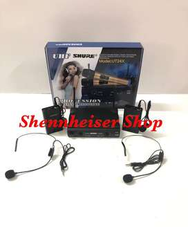 Microphone Wireless Shure UT 24X Dual Clip On And Headset