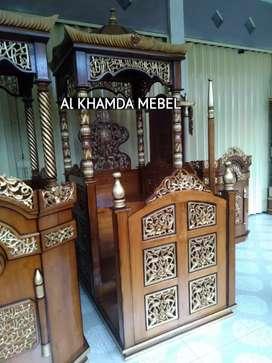 Ready Mimbar Masjid Material Kayu Jati Berkualitas #369