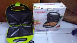Toaster atau pemanggang roti Tosmo murah sandwich toaster
