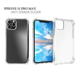 Casing Anti Crack Clear For iPhone 11 Pro Max Silicone Mika Acrylic
