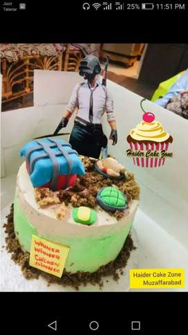Custom Cake with your text availeble in muzaffarbad city