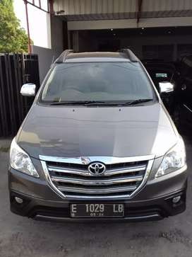 Toyota Innova G MT bensin 2014 abu2 stnk bln 5 2020 ful ori istimewa
