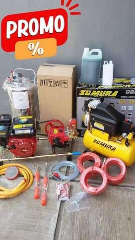 Paket Komplit Mesin Cuci Steam Salju Motor / Mobil