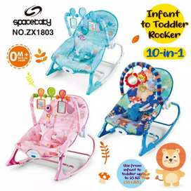 Space Baby ZX1803 10in1 Infant To Toddler Rocker Kursi Ayun Bayi