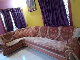 L shaped Sofa set with matching pillow