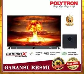 Polytron LED TV DIGITAL + SOUNDBAR