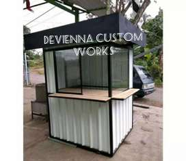 Booth usaha roda dagang booth dimsum booth martabak Container coffee
