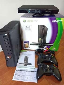 Xbox 360 slim RGH istimewa paket besar lengkap kinect