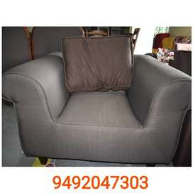 Single cushion sofa studio design
