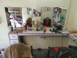 Saloon ke shop dhobin puliye ke pass sb saamaan hai abhi 2 mount old