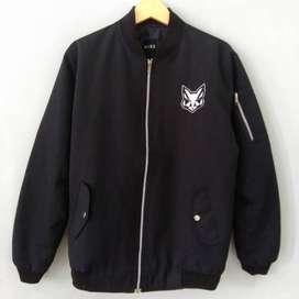 Jaket Bomber RUSS Black Preloved Original