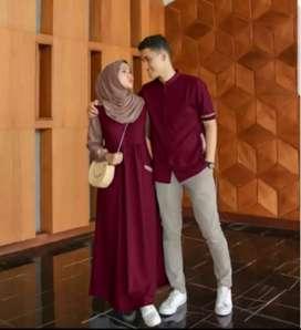 Gamis muslim kapel / pasangan berbagai model murah