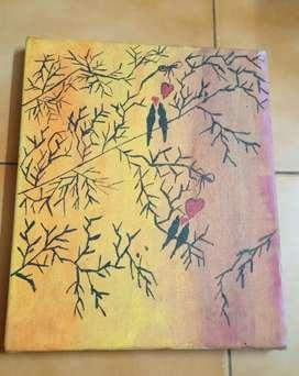 Bird scene  on Canvas Frame.