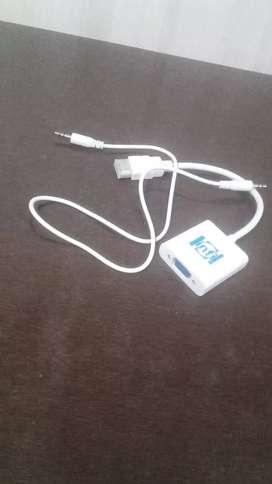 HDMI to VGA  adapter cable