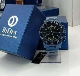 jam tangan original bidden chrono aktif warna biru dark fullset ya
