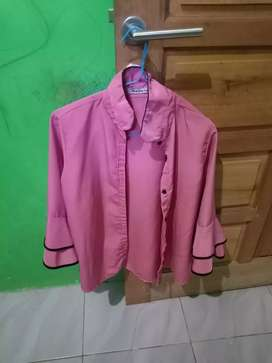 Baju Atasan Wanita Blouse Warna Pink