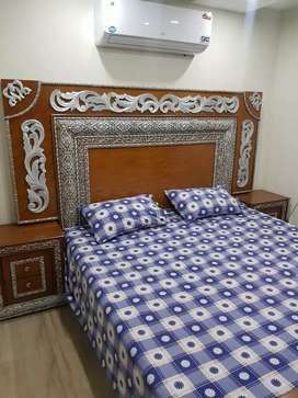 One bed fully furnished flat near Grand jamia mosque bahria town Lah