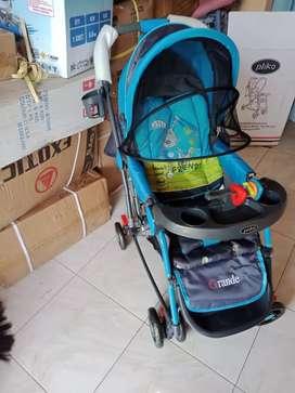 Jual stroller Pliko bisa 5 fungsi & gratis ongkir 100 % baru
