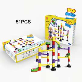 DIY Educational 3D Pipes Marble Run Puzzle Blocks Labyrinth Track Ball