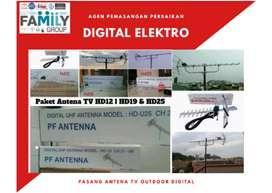 Jual antena tv digital + pemasangan lokasi dekat Rumpin