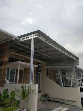 Kanopi dan kerangka atap baja ringan termurah promo