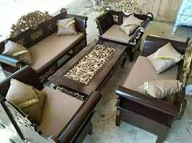 Kursi ruang tamu model Madura kayu jati
