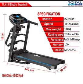 treadmill elektrik total TL-619 F-102 electric treadmil alat fitnes