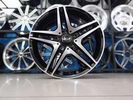 jual hsr wheel ring 17x7,5 h5(112) black polish di ska ban pekanbaru