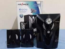 Speaker woofer bluetooth advance m10bt + fm + usb + sd card