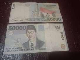 Uang 50rb WR Supratman th 1999