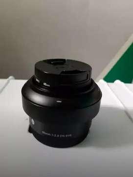 Lensa Sigma F 2.8 bekas sony a6000