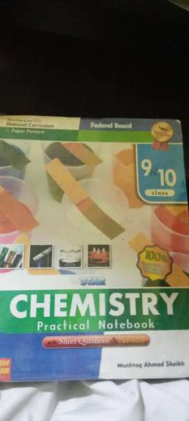 Chemistry practical notebook