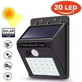 HS Lampu Taman Lampu Tembok Lampu Dinding Sensor Solar Tenaga Matahari