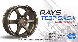 Sale Te37 saga sand brz ring 15x7 pcd 4x100/114 bisa tt bisa cicilan