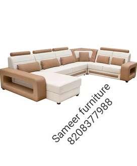 L shape sofa set curnar set Sameer furniture 54