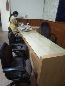 2 bhk flat for office purpose complete furnished table chair reception