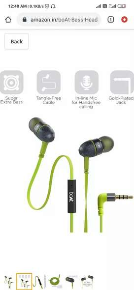 Boat heads 225 earphone with extra-bass