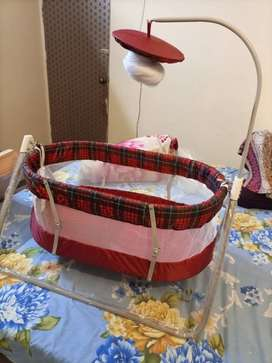 Baby swing cot cradle In Metal Frame  With  Mosquito Net in karachi