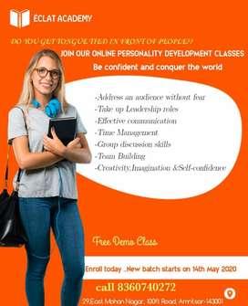 IELTS, Spoken English, Personality Development courses (Online)