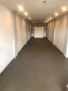 Commercial ground floor shop available in main  model town Market