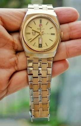 jam tangan vintage rado silver horse